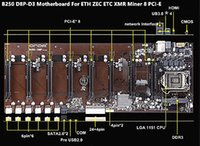 x1 destek toptan satış-ONDA B250 BTC D8P D3 Madencilik Kurulu için DDR3 LGA 1151 Destek 8 Grafik Kartları