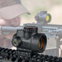 monturas trijicon al por mayor-MRO Red Dot Sight 2 MOA AR Ópticos tácticos de caza Trijicon con montaje QD bajo y ultra alto en forma de riel de 20 mm