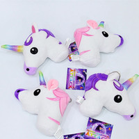 Wholesale Cute Cartoon Unicorn Plush Doll Toy Rainbow Simple Soft Ornament Beautiful Personality Bags King Decoration keychain Pendant