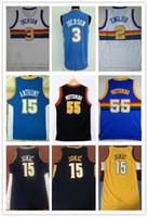 7d229b26b NCAA 2018 Retro   55 Dikembe Mutombo   3 Allen Iverson 2   Alex English 15    Carmelo Anthony 15   Nikola Jokic City bordado camisetas de baloncesto