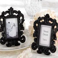 Wholesale baroque photo frame wedding resale online - Elegant White Baroque Photo Frame Wedding Party Favors Bridal Shower Place Card Holder Party Decoration Gifts