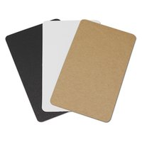 Wholesale postcard blank - 100Pcs  Lot 6*10cm Thick Kraft Paper DIY Scrapbooking Stationery Blank Card Postcard Birthday Gift Greeting Craft Paper Cards