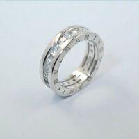 ingrosso incisione su diamanti-S925 sterling silver lettera incisa anello impostazione anello diamante di alta qualità anello lettera b per le donne regalo