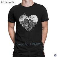 venda amor pássaros venda por atacado-Pássaros do amor camisetas Novidade Tee tops Manga Curta venda quente tshirt dos homens do traje personalizado Clássico 2018