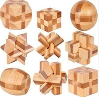 Wholesale new 3d games pc resale online - 9 New Excellent Design IQ Brain Teaser D Wooden Interlocking Burr Puzzles Game Toy For Kids PQQ02