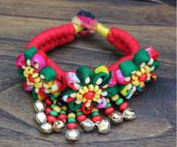 yunnan handmade Canada - The new miao lovely cloth art bell bracelet wrist of yunnan lijiang handmade folk cloth cheongsam abroad gifts