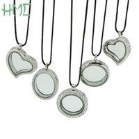 cam takı takımı toptan satış-Sıcak Satış Moda Yuvarlak Açabilirsiniz Yüzer Locket Bellek Yaşayan Kadınlar Için Mıknatıs Cam Madalyon Pendat Kolye Takı Yapımı