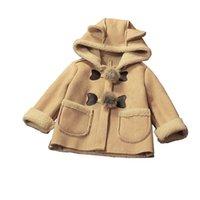 ingrosso cappello bambino-Cola Neonate Inverno Cartoon Hat Giacche Neonate Cappotto Con Cappuccio Baby Jacket Vestiti Infantili