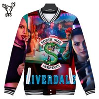 anime xxs großhandel-2018 BTS Riverdale 3D Print southside Frauen / Männer Baseball Jacke Sweatshirts Schöne Frühling Anime Frauen Lustige Jacke Print Mäntel