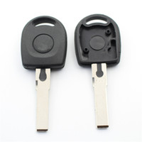 ingrosso chiavi chip shell-10 Pz / lotto Per Vw Passat B5 Polo Bora Blank Transponder Key Shell può Installare Chip Con Logo S201