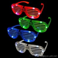Wholesale luminous kids glasses - Shutters LED Glow glasses concert cheer Halloween props dance Fluorescence luminous glasses Led Toy Christmas gifts