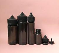 15ml tapas a prueba de manipulaciones al por mayor-Chubby Gorilla Black Bottle Pen PET Unicornio 15ml 30ml 60ml 100ml 120ml Con tapones a prueba de manipulaciones para líquidos líquidos de jugo de Vape E
