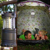 Wholesale Halloween Flashlights - LED camping lantern lamp outdoor collapsible lantern emergency Flashlights Portable Black Collapsible For Hiking Camping Halloween Christmas