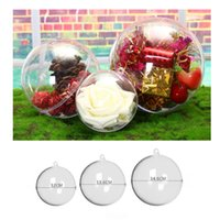 Wholesale virgin ball - Christmas Hanging Plastic Clear Ball Transparent Flower Ball Christmas Gift Candy Ball Festival Wedding Party Decorations cm cm cm