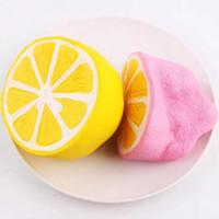 ingrosso portachiavi kawaii-HOT New Kawaii Squishies Svegli Squishies Slow Rising Lemon Squishy per portachiavi mobile Soft Squishies Jumbo Buns Charms per telefono
