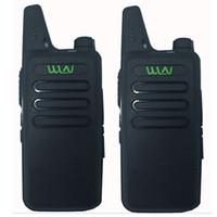 transceptor 3km al por mayor-2pcs WLN KD-C1 UHF 400-470 MHz MINI transmisor-receptor bidireccional de radio bidireccional Walkie Talkie estación de radio portátil a mano
