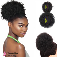 Wholesale wedding wholesale hairpieces online - 8inch Curly Synthetic Hair Chignon With Two Plastic Combs Short Wedding Hairstyles Updo Synthetic hair Curly Chignon Bun Hairpiece Clip In