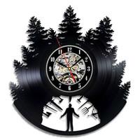 Wholesale Unique Ideas - Vinyl wall Clock Art gift room modern Home Record Vintage decoration time Clock unique Gift idea