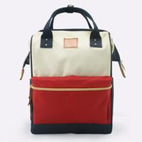 sac à dos korea achat en gros de-Oxford sac en tissu mode sac dame Japonais Corée nouveau sac à dos collège vent étudiant cartable une forme
