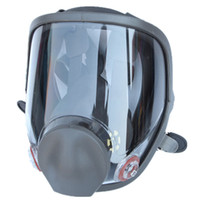 противогазы для лица оптовых-Large View For 3M 6800 Gas Mask Full Face Facepiece Respirator Painting Spraying Silicone Mask
