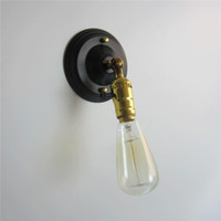 wechselt weinlese großhandel-E27 Mini American Europa Land Wandleuchten Lampen Retro Vintage Edison Home Silber Chrom Knob Schalter
