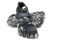 sapatos dedo para as mulheres venda por atacado-Unisex Cinco Dedos Camuflagem sapatos de caminhada das mulheres dos homens Slip-Resistente à prova d 'água escalada trekking viagem 5 Toes praia Tênis
