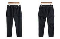 boş etekler toptan satış-27-44 2018 Yeni erkek giyim Saç Stilisti GD Moda Orijinal HIP hop Ayrılabilir fermuar eğlence etek pantolon artı boyutu kostümleri