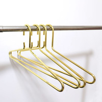 Wholesale Nordic Style Gold Metal Clothes Shirts Hanger Heavy Duty Strong Coats Hanger Suit Hanger Thickness mm QW8942