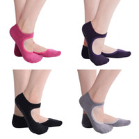 Wholesale ankle skid socks - Yoga Barre Socks Non Slip Skid for Pilates Ballet Cotton Socks Short Ankle Backless Yoga Socks for Women G518S