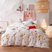 kinder in voller größe bettwäsche-sets großhandel-Cartoon Wald Regentropfen drucken Bettwäsche-Set Königin voller Twin-Size-Baumwolle 100% Bettbezug + Bettlaken + Kissenbezüge Kinder Bettwäsche-Set