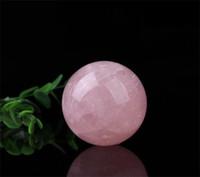 natürliche quarzkugelkugel großhandel-Geschäfts-Geschenk-natürlicher rosa Kristallball-Kunst-Handwerks-vorzügliche Quarz-magische Kugel-Bereich-Verzierung kreative Hauptdekor-populäre 20yz5 jj