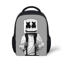Wholesale kids satchel school bags for sale - Group buy School Bag Marshmello Backpack for Kids Boy Girls Female Backpack Printing schoolbag School Supplies Casual Mask DJ Satchel