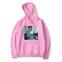 homens alto hoodie pescoço venda por atacado-Mens High Street Com Capuz Hoodies Rapper Lil Uzi Vert Imprimir V Pescoço Camisolas Das Mulheres Dos Homens de Hip Hop Hoodies Inverno Soltos Plus Size 2XS-4XL