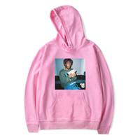 más sudaderas con capucha para mujeres al por mayor-Mens High Street Hooded Hoodies Rapper Lil Uzi Vert Estampado con cuello en V sudaderas Hombres Mujeres Hip Hop Loose Invierno Hoodies Plus Size 2XS-4XL