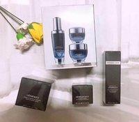 schwarze augenflasche großhandel-Berühmte Marke Schwarze Flaschen 15ml Augencreme + 50ml Gesichtscreme + 50ml Nachtcreme Für Linien aktivierend Hautpflegeset aktivieren DHLfreier Versand