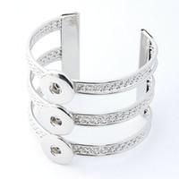 glänzender knopf großhandel-18mm Noosa Armreif Armbänder Für Frauen Schmuck 925 Silber Glänzende Frauen Druckknopf Armreif Armbänder