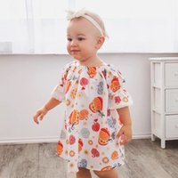 4t halloween kostüme großhandel-2018 Ins Heißer Verkauf Baby Kinder Mädchen Halloween Party Niedlichen Kürbis Kostüm Mini Kleid Baumwolle Kleidung