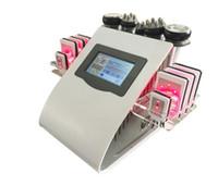 modèle à vide achat en gros de-Modèle 40k liposuccion ultrasonique Cavitation 8 pads LLLT lipo laser amincissant l'équipement de spa beauté A753 du salon de soins de la peau de machine RF