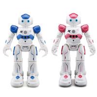 dança usb venda por atacado-Robô rc jjrc r2 usb carregamento dança gesto de controle rc robô de brinquedo azul rosa para crianças crianças presente de aniversário presente