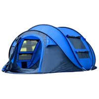Wholesale big tents camping - Big space 290*200*130cm 3-4 person Tourist Tent Quick Automatic Opening Waterproof Camping Tent tents For Outdoor Camping Beach