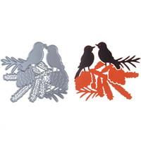 ingrosso uccello scrapbooking-100 * 89mm Personalizzato Sharp Acciaio al Carbonio Due Taglio Uccello Muore Scrapbooking Goffratura Taglio Stencil Per Carta Album FAI DA TE