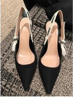 Wholesale women office cloth - New High Heels&Flat Shoe Women's Sandals Elegant Ladies Solid Shallow Mouth Patent Leather Net Cloth Pointed shoes Bowtie Sandals
