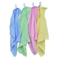 zauberhandtücher großhandel-Magic Cleaning Dish Towel Hocheffiziente Anti-Fett-Farbe Geschirrtücher Microfiber Soft Antihaft-Öl und Dirty Wash Bowl Handtuch 5pcs frei
