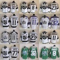 Discount hockey jerseys la kings - 32 Jonathan Quick Jersey Men Los Angeles Kings Ice Hockey Jerseys LA Kings 8 Drew Doughty 11 Anze Kopitar
