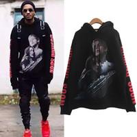 erkek çocuklar kara hoodies toptan satış-Yeni Vetements Titanic Baskı Siyah Hoodie Kadın Erkek Hip Hop Boy Kazak Hoodie Kazak Erkek Kız Kaykay Hoodies YJH1105