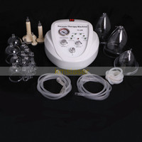Wholesale Cupping Equipment - EU tax free! 3size cups Vacuum Therapy Breast Enlargement Enhancement Bra Pump Breast Massager Lifting body shaping beauty equipment