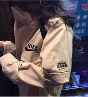 taktik rüzgarlık toptan satış-Beyaz Taktik Ceketler Temel Ceket sportwear Fermuar Göğüslü Rüzgarlıklar Erkekler kadınlar için Rahat bombacı ceket Rüzgarlık ...