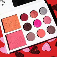 Wholesale Valentines Wear - Makeup Ky lie Valentines Diary Kyshadow Blush Kylie Jenner Cosmetics Eyeshadow Palette 11 Color Eye Shadow Kit Valentines Day Gift