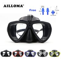 Wholesale dive masks camera resale online - Ailloma Scuba Underwater Anti Fog Camera Mount Stand Diving Masks Anti Skid Tempered Glass Silicone Pvc Swimming Masks Goggles