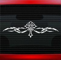 vinylabziehbilder christlich großhandel-Cross Tribal Christian Auto Aufkleber LKW Fenster Motorrad SUVs Autoscooter Laptop Auto Stylings Vinyl Aufkleber